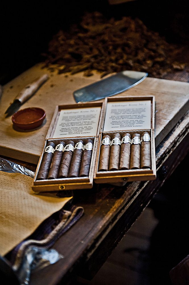 Und so sehen die fertigen Zigarren aus ...