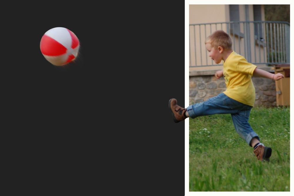 .... und weg ist der Ball
