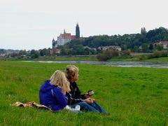 °°° Und wieder geht ein schöner Tag zur Neige - Abschluss an der Elbe - Unser Lieblingsplatz °°°