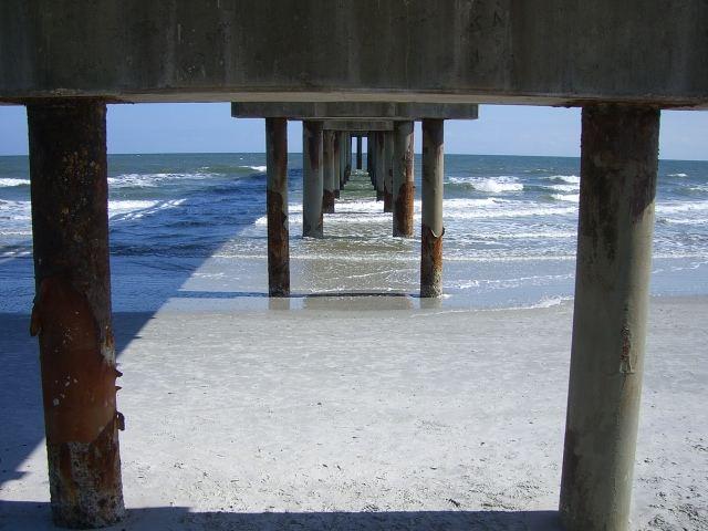 Under pier / St. Agustine Florida