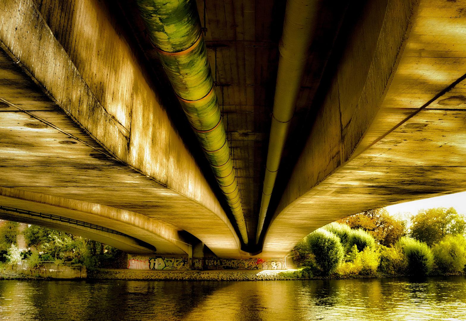 Under the bridge in Spandau