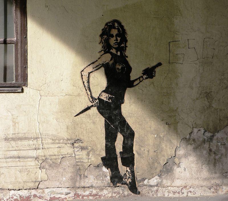 under the Bridge -street art-