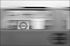 underground train at lambeth north in london