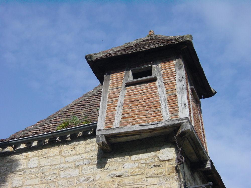 une autre vue de l'architecture de Saint Cyr Lapopie dans le LOT