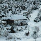 Une Borie sous la neige..