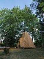 Une des cabanes du jardin botanique