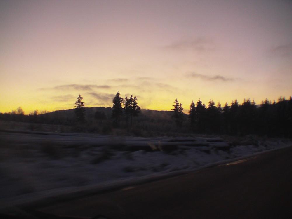 une fin de journee d'hiver