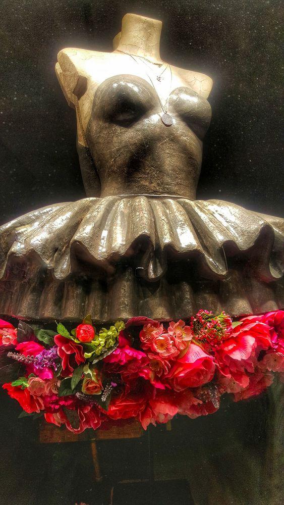une jupe de fleurs