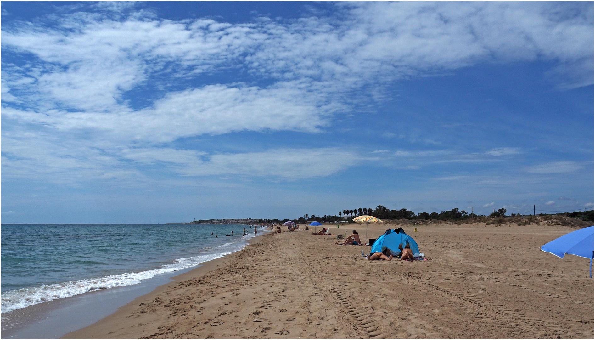 Une plage de la Costa Dorada au sud de Cambrils