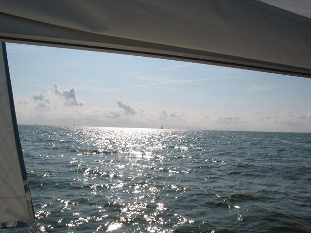 Unendliche Ferne auf dem Meer