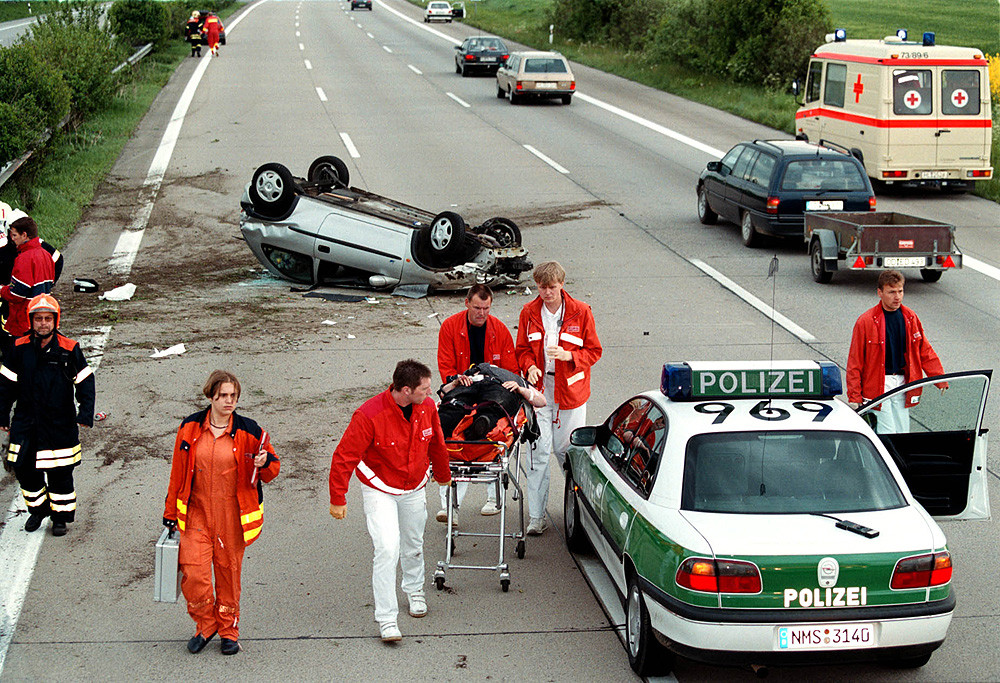 Autobahn Unfall