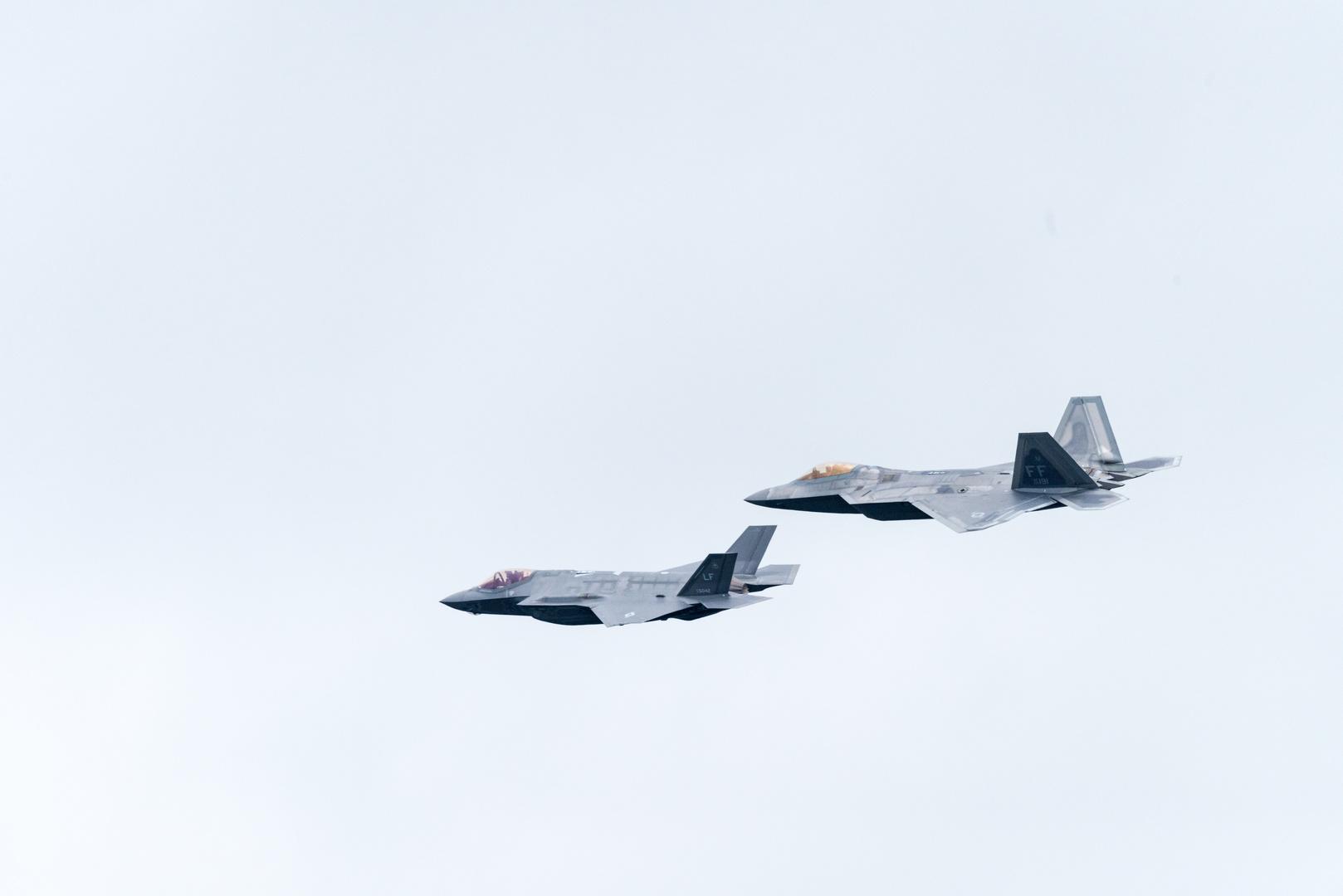 ungleiches Paar F-35 und F-22