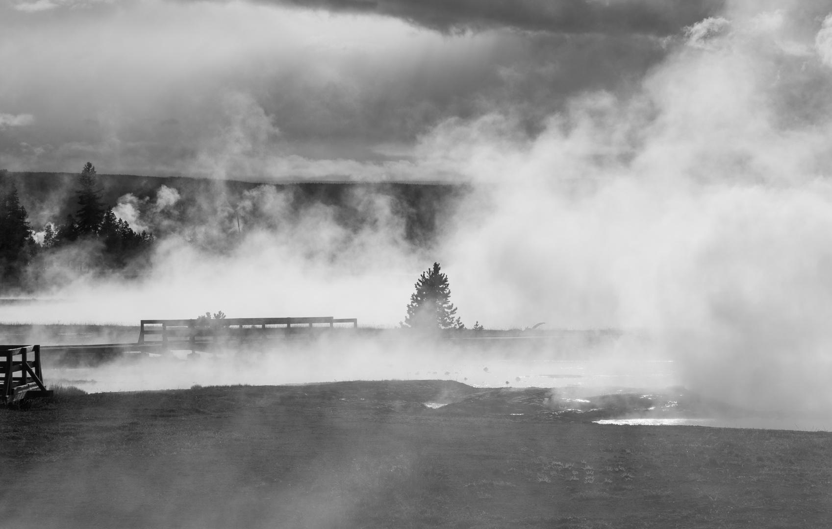 Unheimliche Stimmung am Hot Lake im Yellowstone National Park