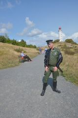 Uniform auf Hiddensee
