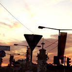 Unmöglicher Sonnenuntergang...in Hietzing