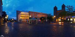 Unna - Rathaus und kath. Kirche