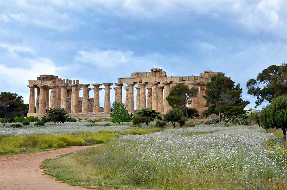 Uno de los templo griego en Selinunte