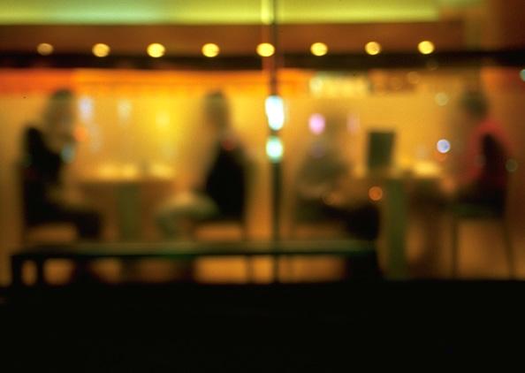 Unscharfer Blick in ein japanisches Restaurant