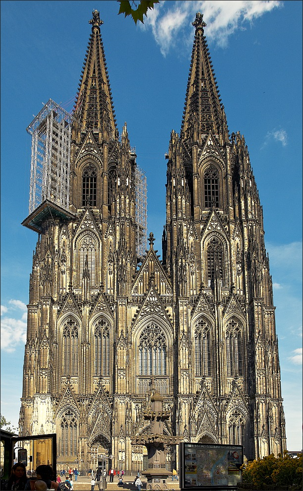 Unser Dom Mit Gerust Foto Bild Deutschland Europe Nordrhein Westfalen Bilder Auf Fotocommunity