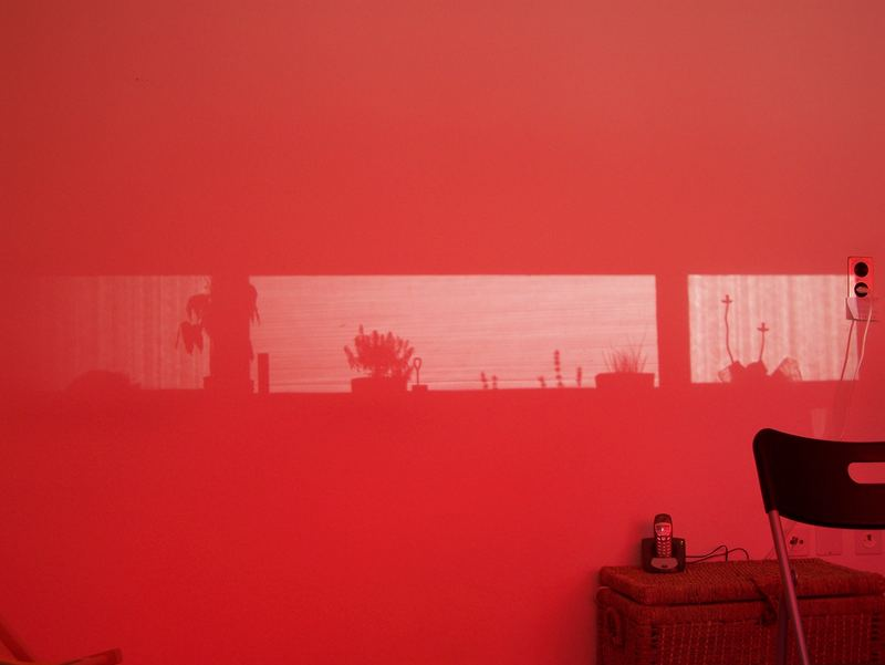 Unser Fenster an der Wand