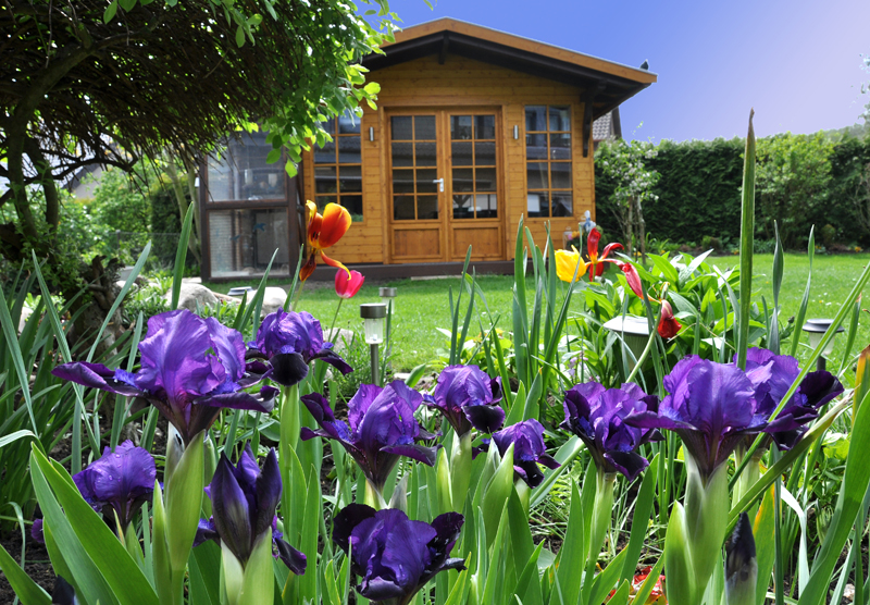Unser Gartenhaus im Mai
