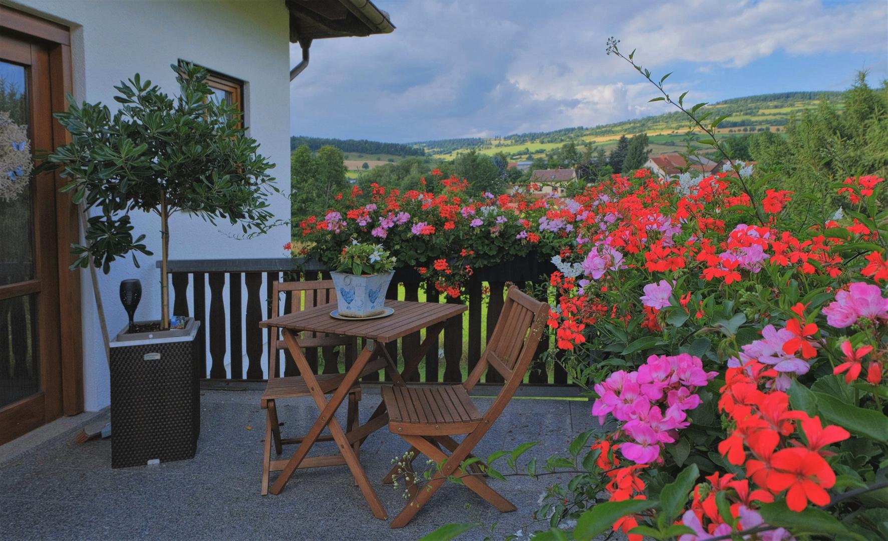 unser Hauseingang (la entrada de nuestra casa)