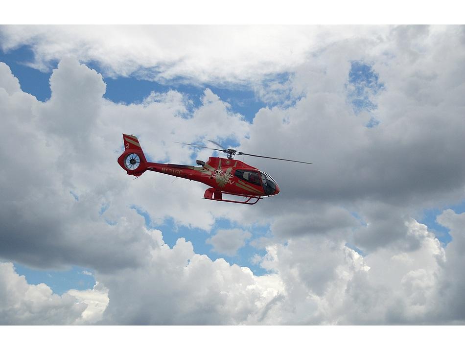 Unser Hubschrauber...