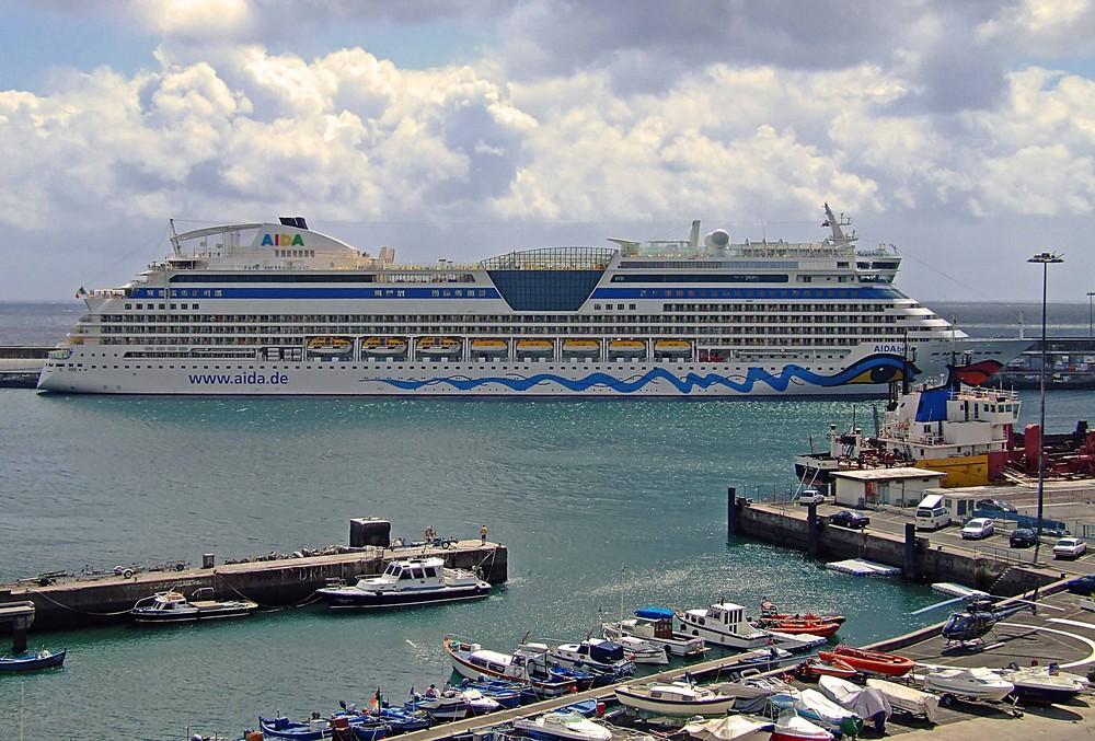 Unser Schiff auf unserer Hochzeitsreise die Aida Bella.