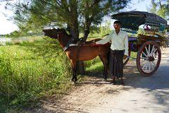 ...unsere Kutsche mit dem Kutscher von Ava...