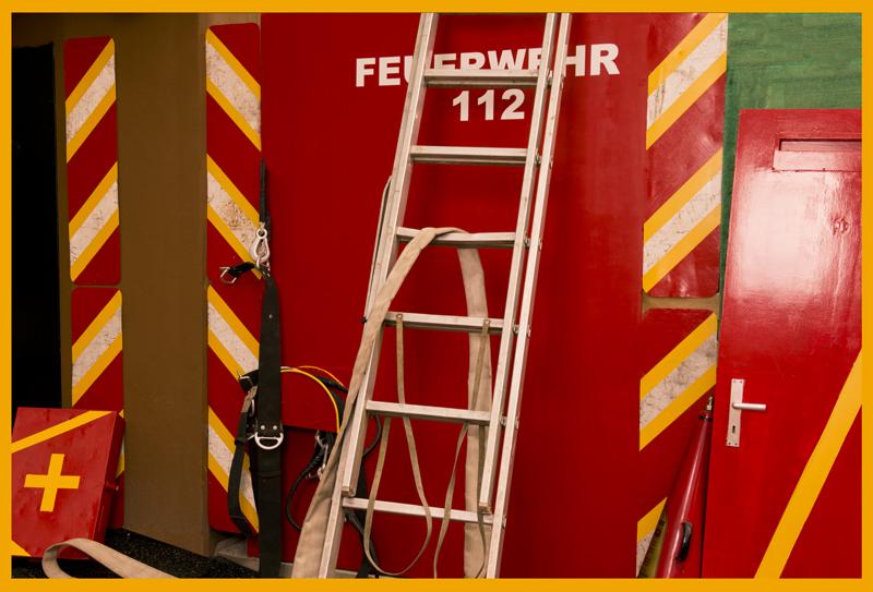 Unsere neue Feuerwehr-Kulisse im Outdoorbereich!