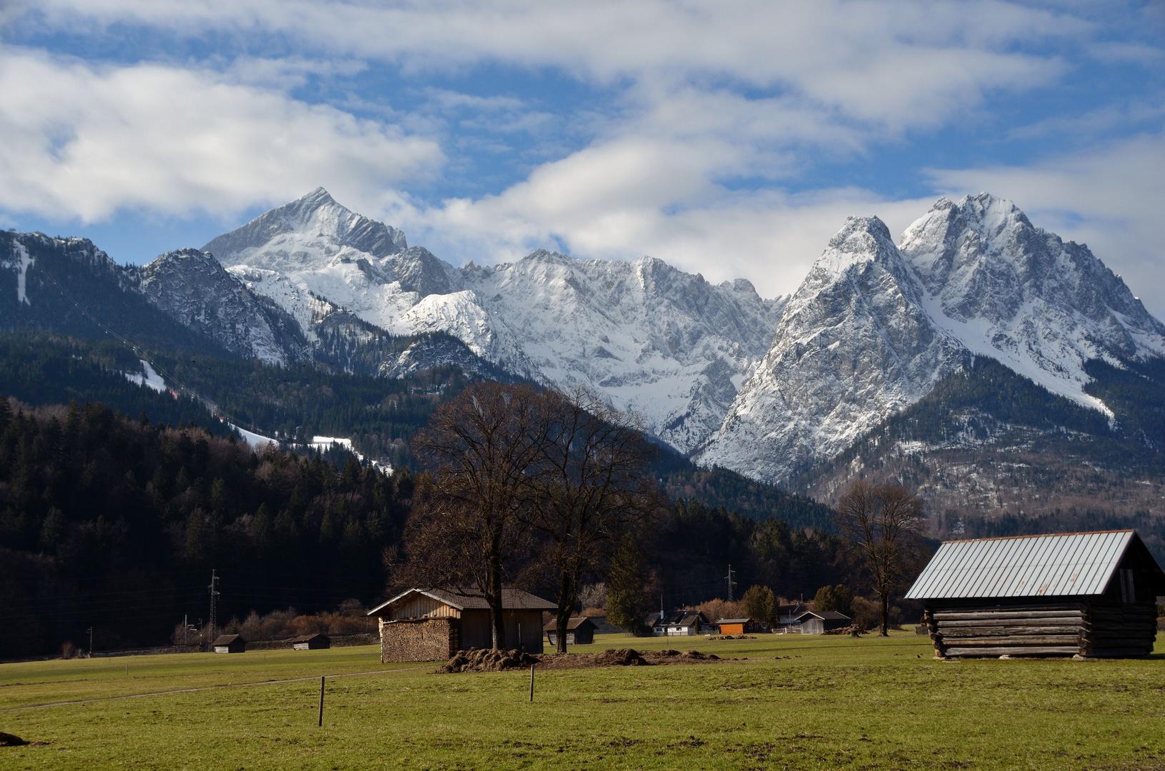 Unter Alpspitz und Zugspitz