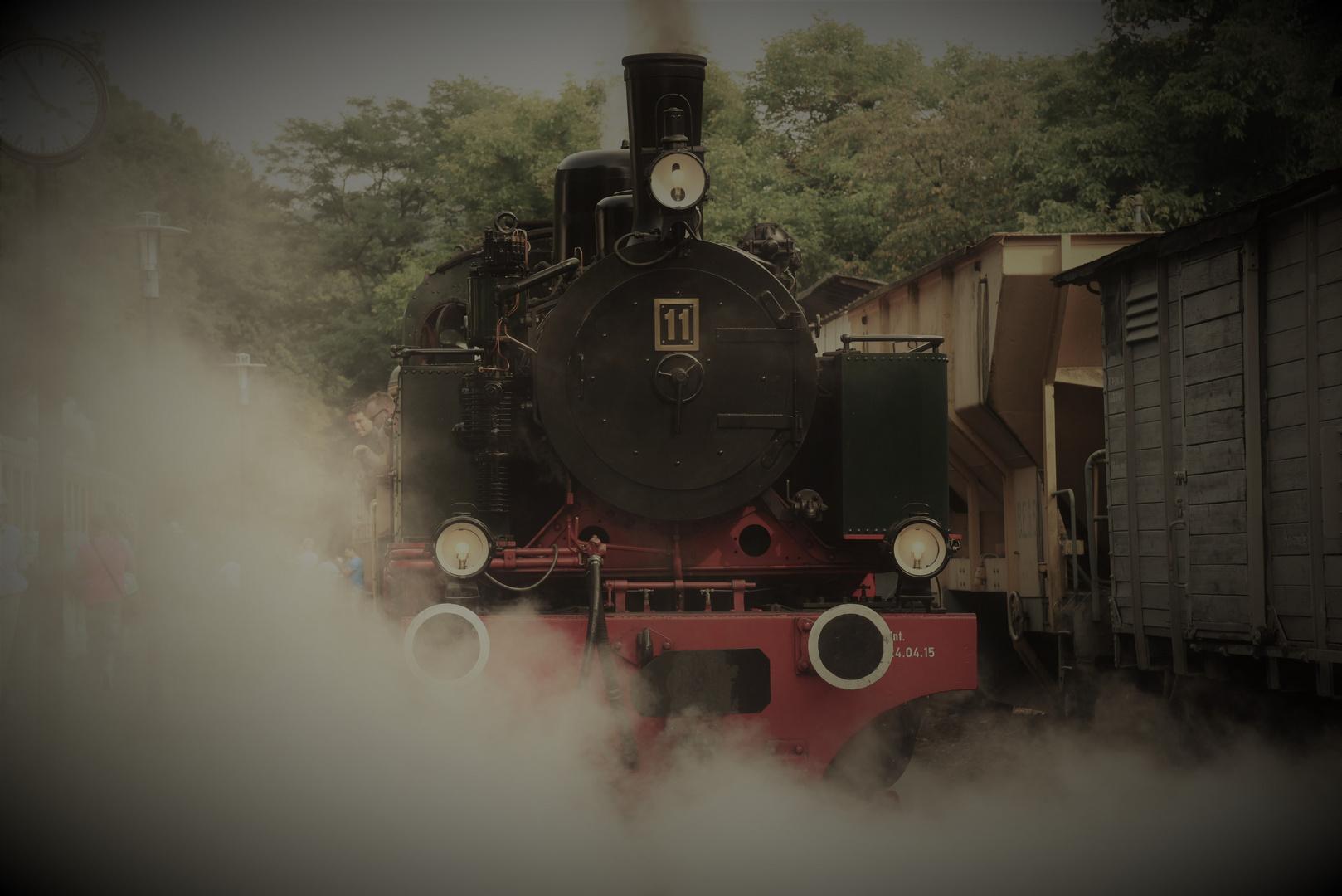 Unter Dampf zum 40. jährigem Bahnfest