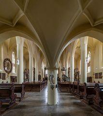 Unter der Empore in der Kirche St. Maria de Rosario (Gerolzhofen)