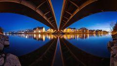Unter der Nibelungenbrücke in Regensburg