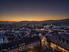 Unter- und Oberstadt Siegen vom Turm der Nikolaikirche