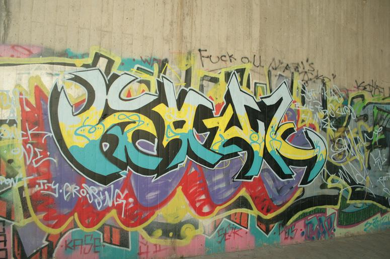 unterbrücke graffiti bei Dieburg