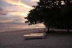 unterdehende Sonne auf der Insel Bohol -Philippinen _im November 2011