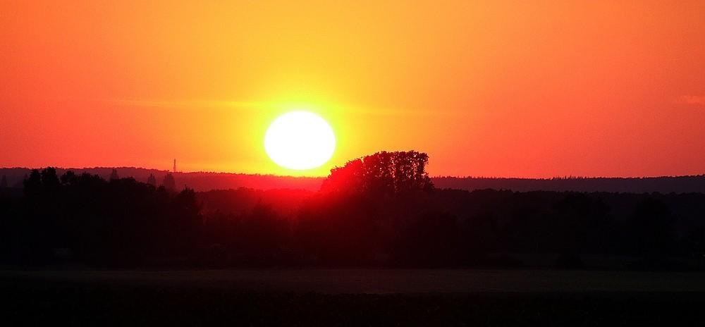 untergehende Sonne bei Bokeloh #2