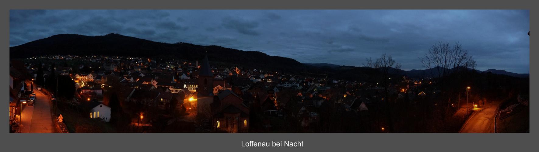 Unterhalb der Teufelsmühle (Loffenau) bei Nacht