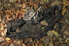 Unterhosen: Die Schwarze im Herbstlaub