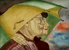 Unterm Regenschirm