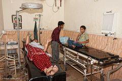 Untersuchungsraum im Nazir Hussain Hospital Karachi