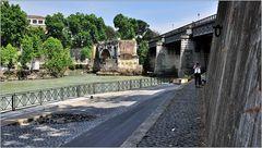 ... unterwegs am Tiber ...