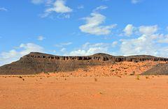 Unterwegs auf dem Wüstenplateau bei Tafraout Hassi Fougani