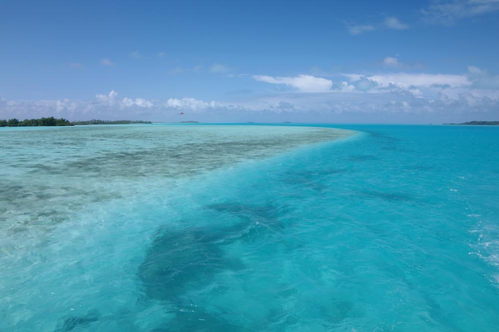 Unterwegs auf der Lagune von Aitutaki
