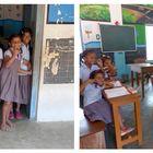 Unterwegs im Dorf - In der Schule ...
