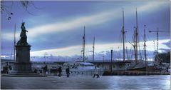 ... unterwegs im Osloer Hafen ...