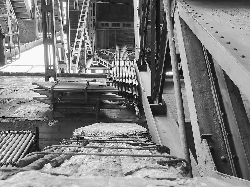Unterwegs im Stahlwerk