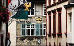 ... unterwegs in der Altstadt von Basel ...