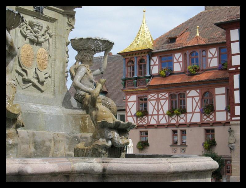 Unterwegs in der schönen Altstadt im fränkischen Schwabach